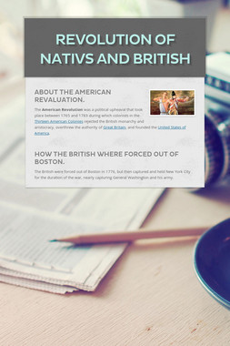 revolution of nativs and British