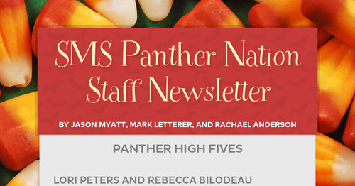 SMS Panther Nation Staff Newsletter   Smore Newsletters