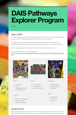 DAIS Pathways Explorer Program