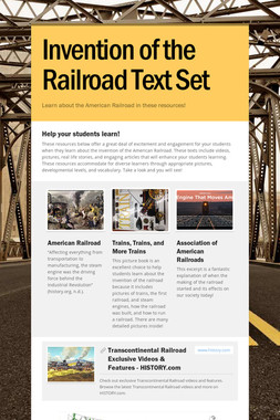 Invention of the Railroad Text Set