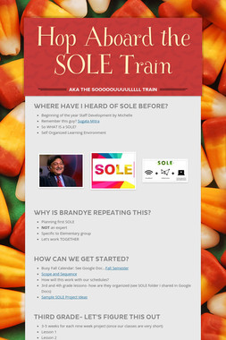 Hop Aboard the SOLE Train