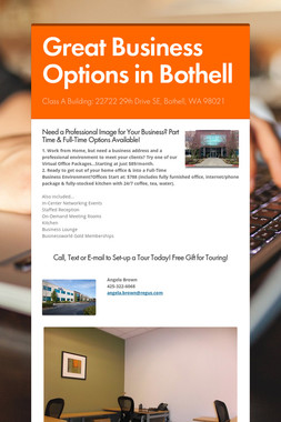 Great Business Options in Bothell