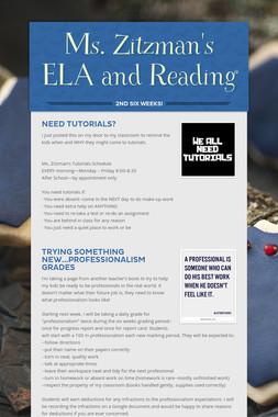 Ms. Zitzman's ELA and Reading