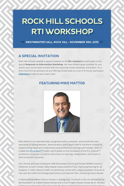 Rock Hill Schools RTI Workshop