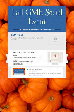 Fall GME Social Event