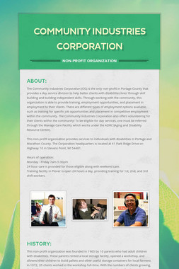 Community Industries Corporation