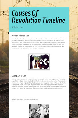 Causes Of  Revolution Timeline
