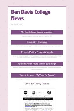 Ben Davis College News