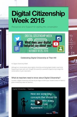 Digital Citizenship Week 2015