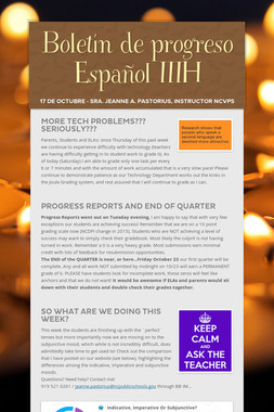 Boletín de progreso Español IIIH