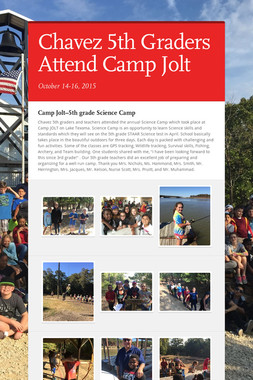 Chavez 5th Graders Attend Camp Jolt