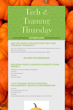 Tech & Training Thursday