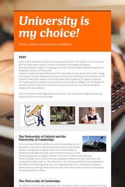 University is my choice!