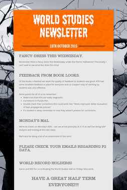 World Studies Newsletter