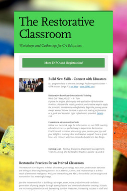 The Restorative Classroom