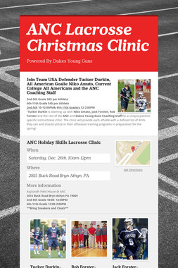 ANC Lacrosse Christmas Clinic