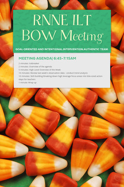 RNNE ILT BOW Meeting