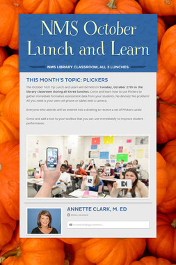 NMS October Lunch and Learn