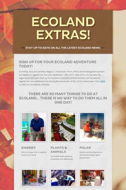 EcoLand Extras!