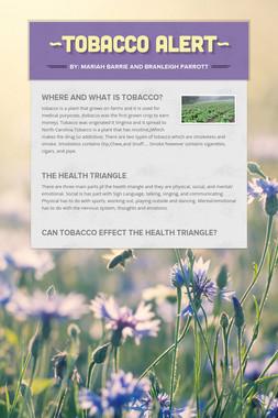 ~Tobacco alert~