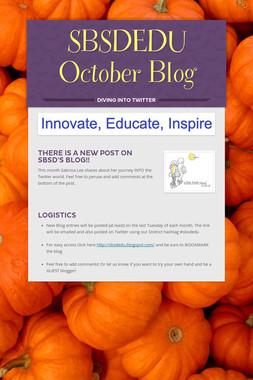 SBSDEDU October Blog