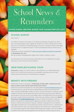 School News & Reminders
