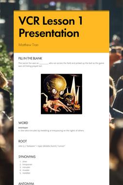 VCR Lesson 1 Presentation