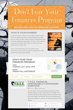 Don't Fear Your Finances Program
