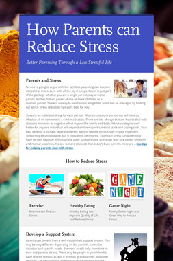 How Parents can Reduce Stress