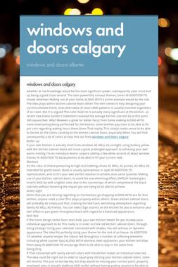 windows and doors calgary