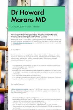 Dr Howard Marans MD
