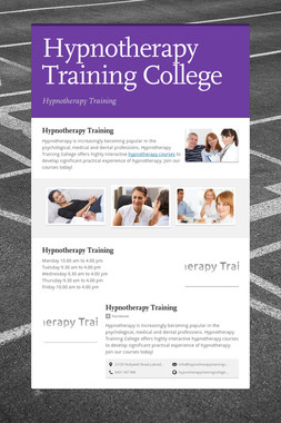 Hypnotherapy Training College