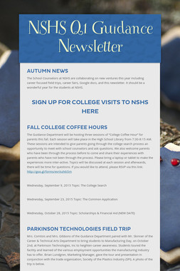NSHS Q1 Guidance Newsletter
