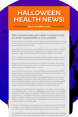 Halloween Health News!