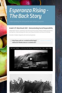 Esperanza Rising - The Back Story
