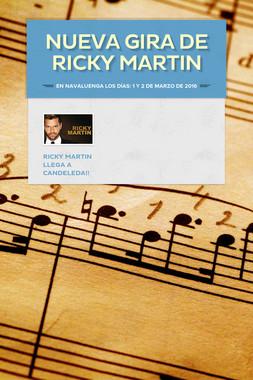 NUEVA GIRA DE RICKY MARTIN