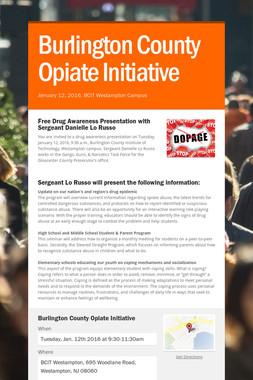 Burlington County Opiate Initiative