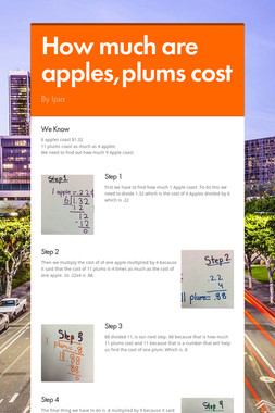 How much are apples,plums cost
