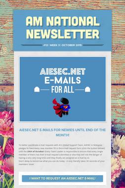 AM National Newsletter