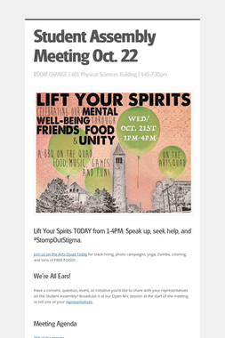 Student Assembly Meeting Oct. 22