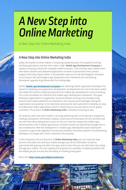 A New Step into Online Marketing