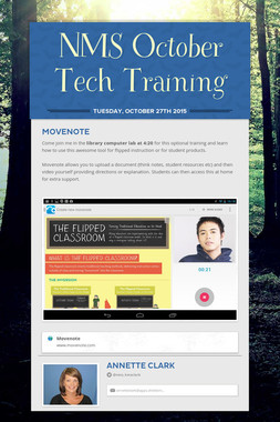 NMS October Tech Training