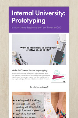 Internal University: Prototyping