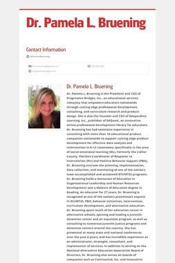 Dr. Pamela L. Bruening