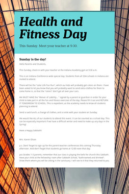 Health and Fitness Day