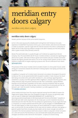 meridian entry doors calgary