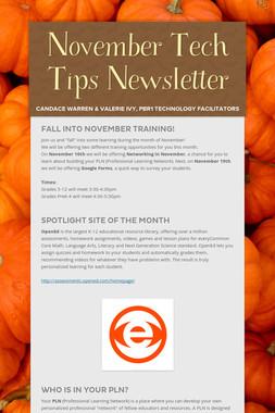 November Tech Tips Newsletter