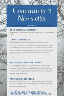 Community 3 Newsletter