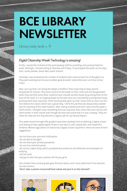 BCE LIBRARY NEWSLETTER