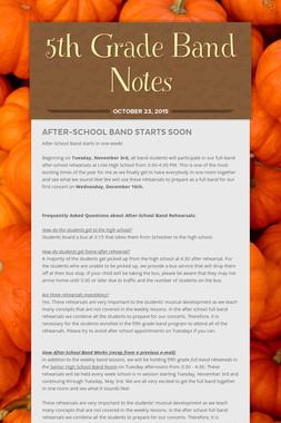 5th Grade Band Notes